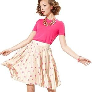 WHIMSICAL Kate Spade pleated polka dot skirt